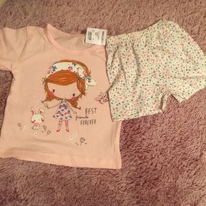 Other - Best Friends Forever tee and shorts (NWT)